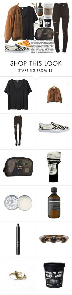 """give it a go"" by velvet-ears ❤ liked on Polyvore featuring R13, Yves Saint Laurent, Vans, Chanel, Kale, Aesop, Jack Wills, NARS Cosmetics and Pamela Love"