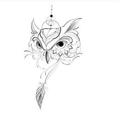 Owl Tattoo Small, Small Tattoo Designs, Small Tattoos, White Tattoos, Tiny Tattoo, Owl Tattoo Drawings, Art Drawings Sketches, Animal Drawings, Body Art Tattoos