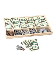 Melissa & Doug Play Money Set on #zulily. Perfect for dramatic play center.