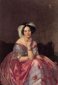 Jean Auguste Dominique Ingres (1780-1867) Título	 Inglés: Retrato de la Baronesa James de Rothschild