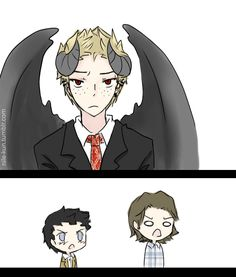 Demon-Dean by Nile-kun. THOSE REACTIONS THO *dying of laughter