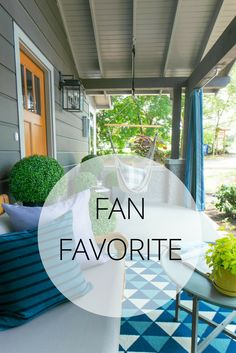 Our most-pinned room of the night is the front porch! We're glad you love this space as much as we do. Take the full tour >> http://www.hgtv.com/design/hgtv-urban-oasis/2015/hgtv-urban-oasis-videos?soc=pinterest