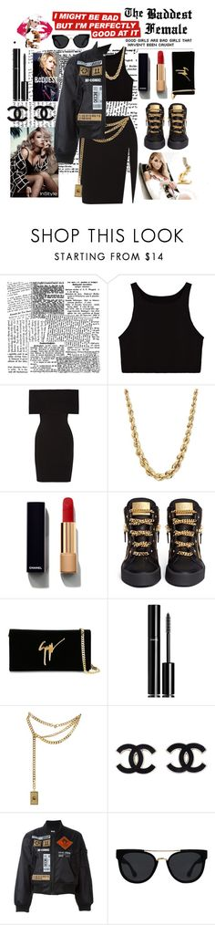 """The Baddest Female CL"" by itzbrizo ❤ liked on Polyvore featuring Rosetta Getty, Chanel, Braun, Giuseppe Zanotti, Moschino, KTZ, Quay, kpop, 2NE1 and cl"