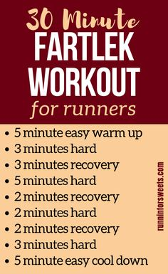 Fartlek training is a great way for runners to increase their speed. However, fartlek workouts are often confused with interval training. Here is everything you need to know to complete a successful fartlek run and use these running workouts to get faster Running Workout Plan, Interval Running Workouts, Speed Workout, Endurance Workout, Track Workout, Fun Workouts, Workout Ideas, Running Routine, Workout Plans