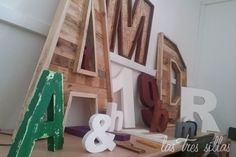 Alquiler de letras gigantes para bodas Romantic Weddings, Vintage Furniture, Recycled Furniture, Chairs