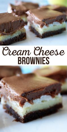Cream Cheese Brownies Recipe | Four decadent layers go into these Cream Cheese Brownies.