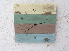 Beach House style...Pallet Wood Clock. ReCycled by terrafirma79