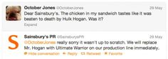 Sainsbury's hilarious Twitter response