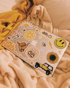 """#MadEDesigns #Laptops #shaka #sticker #stickers #LaptopStickers #LaptopSticker #CuteLaptopStickers #CollegeStickers #college #decal yellow aesthetic """"Q: how's your day today?💛 . . . #yellow #yellowaesthetic #aesthetic #yellowfeed #yellowtheme #laptopstickers #laptop"""""""