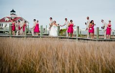 We love this unique shot of the wedding party a the Outer Banks! Brooke Mayo Photography http://www.outerbanksweddingassoc.org/membersearch/memberpage.html?MID=1832=Photographers=16