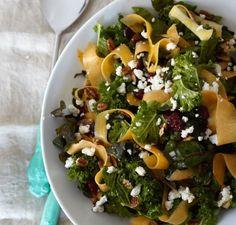 Kale, Swiss Chard & Butternut Squash Salad
