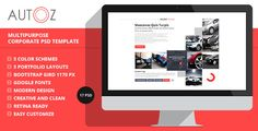"AutoZ - Multipurpose Corporate PSD Template   http://themeforest.net/item/autoz-multipurpose-corporate-psd-template/5455046?ref=damiamio         Description    ""AutoZ – Multipurpose Corporate PSD Template"" is a great design idea for website of Creative Corporate, Corporation, Organization, Community, Company Profile, Personal Portfolio, News, Creative Blog, Gallery Photo and more… ""AutoZ"" is a creative modern and multipurpose psd template. Template designed for Wordpress, Joomla and other…"