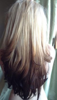 2015 Top 6 Ombre Hair Color Ideas for Blonde Girls Buy & DIY. In recent few seasons, Ombre hair color is no doubt becoming more popular. It obviously has been the Nouveau Chic of many hair designers, frequently seen in fashionREAD Reverse Ombre Hair, Best Ombre Hair, Ombre Hair Color, Reverse Balayage, Reverse Braid, Ombre Style, How To Ombre Hair, Love Hair, Great Hair