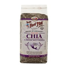 One 16 oz Bob's Red Mill Chia Seeds