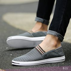 US $21 Summer Breathable Men Shoes Espadrille Fashion Casual Flats Shoes Big Plus Size Loafers Boat Shoes Flat Shoes Driving Hollow Out