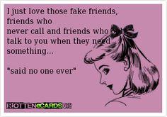 Beware of fake friends!