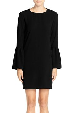 Charles Henry Charley Henry Bell Sleeve Crepe Shift Dress available at #Nordstrom