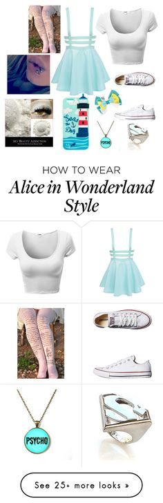 """Untitled #398"" by tati-howell on Polyvore featuring Converse, Noir and Disney"