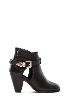 MADISON HARDING Olivia Buckle Boot in Black Faded from REVOLVEclothing
