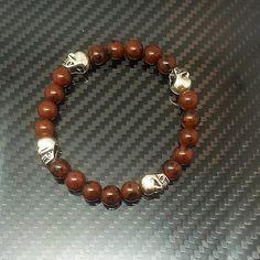 Skull Bracelet, Skull Necklace, Skull Jewelry, Beaded Bracelets, Groomsmen, Shop Now, Jewelery, Bling, Handmade