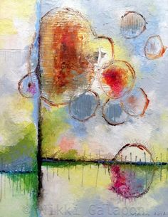 Finding My Way, Original Oil Painting on canvas panel, 11″x14″, abstract modern art  by:-nikkigalapon