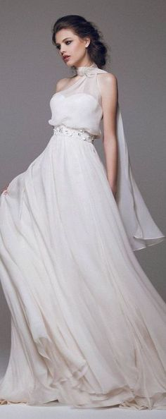 Blumarine Bridal Gown 2015 v For Authentic Vintage Wedding Jewelry go to: www.etsy.com/...