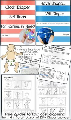 Cloth diaper on any budget- free booklets for download from Dirty Diaper Laundry.