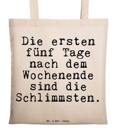 #Jutebeutel mit Spruch zum Wochenende, #Tragetasche aus Jute / #totebag with funny statement made by Spruchreif via DaWanda.com