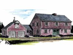 Floor Plans AFLFPW10112 - 2 Story Colonial Home with 4 Bedrooms, 2 Bathrooms and 1,992 total Square Feet