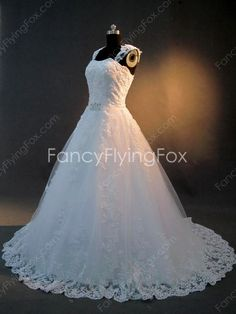 fancyflyingfox.com Offers High Quality Latest Double Straps Full Length Princess Wedding Dresses With Corset Back ,Priced At Only US$255.00 (Free Shipping)