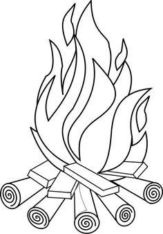 Omalovánka Ohníček - Ostatní - k vytisknutí, pro děti k vybarvení zdarma ke stažení Camping Coloring Pages, Truck Coloring Pages, Coloring Book Pages, Printable Coloring Pages, Coloring Pages For Kids, Adult Coloring, Fairy Coloring, Kids Coloring, Mandala Coloring