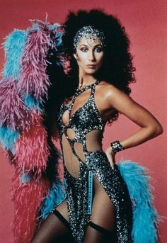 On our list of one-name entertainers with show-stopping style, Cher certainly holds her own. From the midriff-baring costumes she sported on Cherokee, Cher Concert, Rebel, Cher Photos, Cher Bono, Celebrity List, Star Wars, Famous Women, 80s Fashion