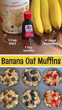 Baby Food Recipes, Snack Recipes, Cooking Recipes, Healthy Oat Recipes, Easy Recipes, Banana Recipes Lunch, Dinner Recipes, Recipes With Bananas Healthy, Dinner Ideas