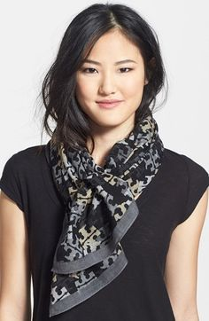 Tory Burch Stamped Logo Scarf available at #Nordstrom