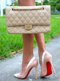 Coco Chanel bag and Louboutin heels