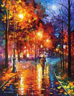 (new!) Christmas Spirit — PALETTE KNIFE Oil Painting by AfremovArtStudio, $139.00