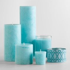 Mediterranean Sea Candles from Cost Plus World Market. Shop more products from Cost Plus World Market on Wanelo. Pierre Turquoise, Bleu Turquoise, Shades Of Turquoise, Shades Of Blue, Turquoise Cottage, Bedroom Turquoise, Tiffany Blue, Azul Tiffany, Candle Lanterns