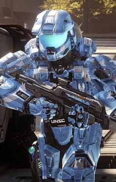 Blue halo armor, so cool