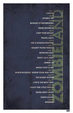 Zombieland - Retro Poster 11x17 Print