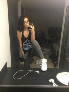 Acacia Brinley wears a Forever 21 Pink Floyd Tank with Forever 21 Joggers. Shop it: http://www.pradux.com/acacia-brinley/photo/3655