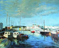 Galway Docks Painting by Conor McGuire