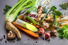 Rinderfond Sous-vide Sauces, Sous Vide, Rind, Asparagus, Soup Recipes, Vegetables, Eat, Stew, Healthy Food