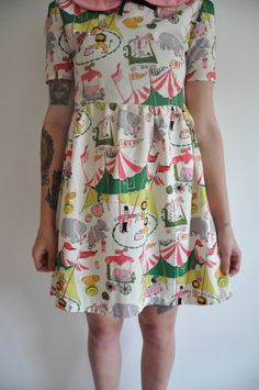 Ring Leader Dress!  Love this fabric!