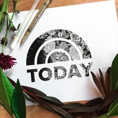 Maggie Sichter @littlepatterns on the TODAY show! @todayshow Floral logo illustration in honor of the occasion!