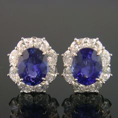 Shreve, Crump & Low sapphire and diamond earrings.