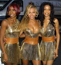 The time they wore so much gold lamé. 31 Times Destiny's Child Proved They Were The Best Thing Ever Beyonce Et Jay Z, Beyonce Style, Beyonce Knowles, Cute Celebrities, Celebs, Hip Hop, Early 2000s Fashion, Kelly Rowland, Destiny's Child
