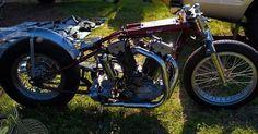 vintage bike of the day | j.a. prestwich v-twin drag bike