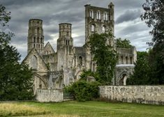 Jumièges Abbey in Normandy, France.  Founded by Clovis II and Balthild in 654.