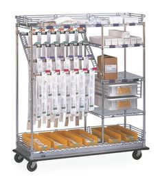 Combo Catheter Cart, great for easy transport and organization! 800-400-7500 #MetroShelving #CatheterCart #MetroCart