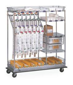 Combo Catheter Cart, great for easy transport and organization! 800-400-7500 #MetroShelving #CatheterCart #MetroCart